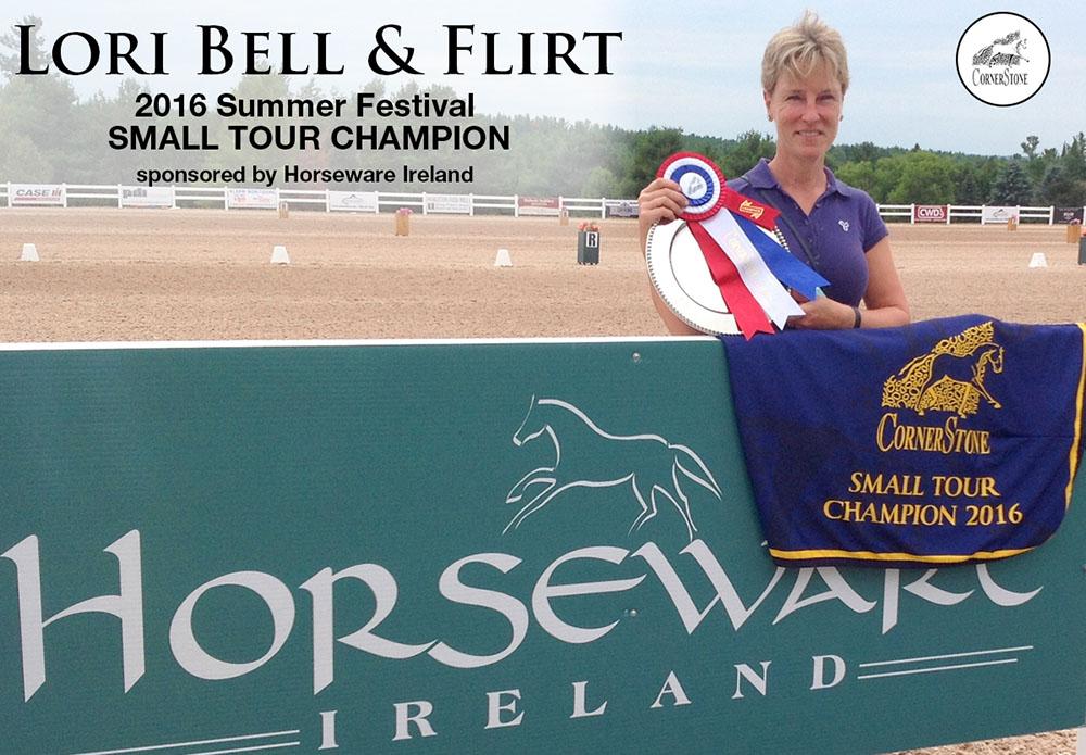 LORI BELL & FLIRT - SMALL TOUR CHAMPIONS CORNERSTONE DRESSAGE