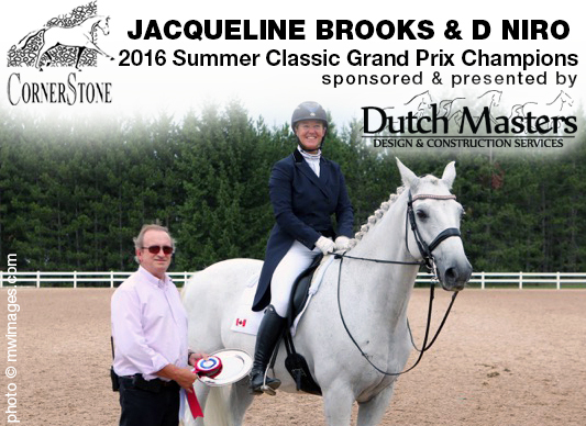 Jacqueline Brooks & DNiro - 2016 Grand Prix CHAMPIONS CORNERSTONE DRESSAGE