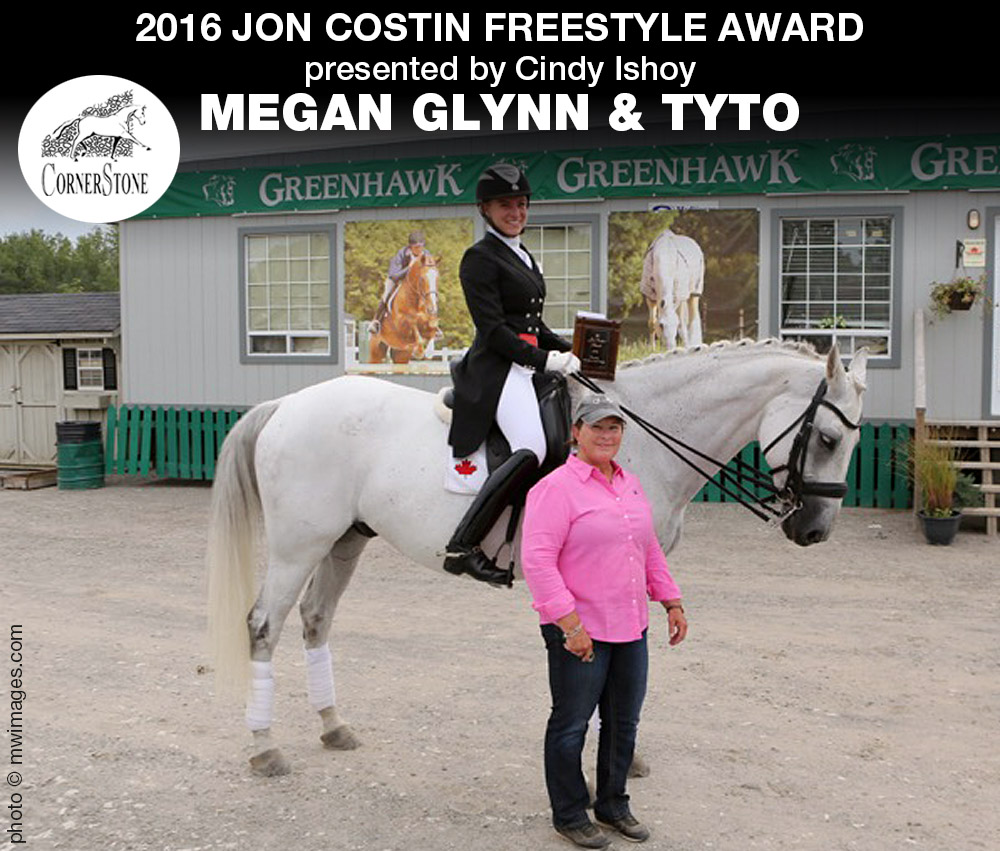Megan Glynn & Tyto - 2016 Jon Costin Freestyle Award CHAMPIONS CORNERSTONE DRESSAGE