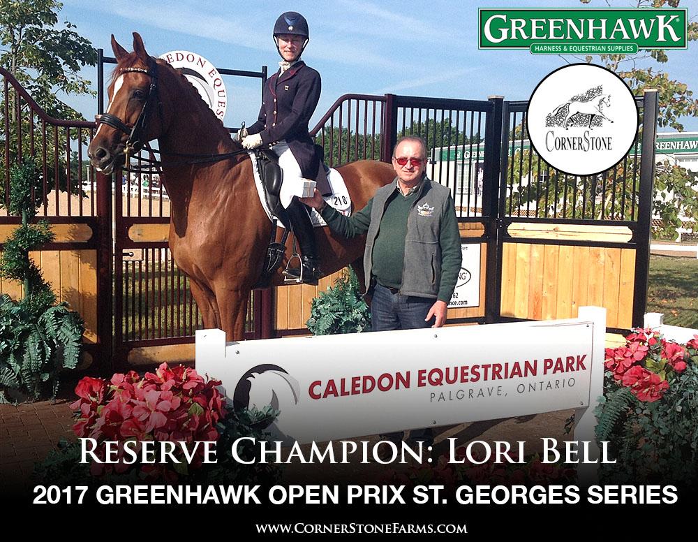 Lori Bell - 2017 Greenhawk Prix St. Georges Series Reserve Champions CORNERSTONE DRESSAGE