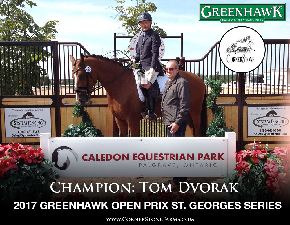 Tom Dvorak  - 2017 Greenhawk Prix St. Georges Series CHAMPIONS CORNERSTONE DRESSAGE